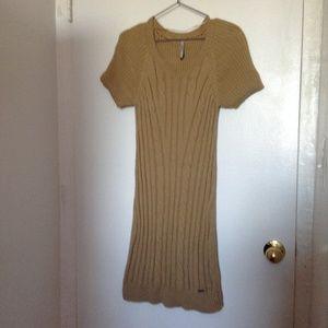 Pepe Jeans Sweater Dress, gold, Size L